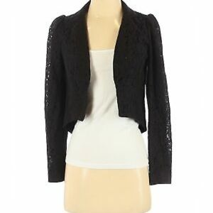 Forever 21 by Rory Beca Black Lace cropped jacket
